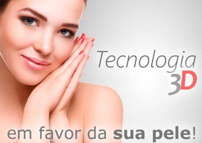 Tecnologia 3D em favor da sua pele